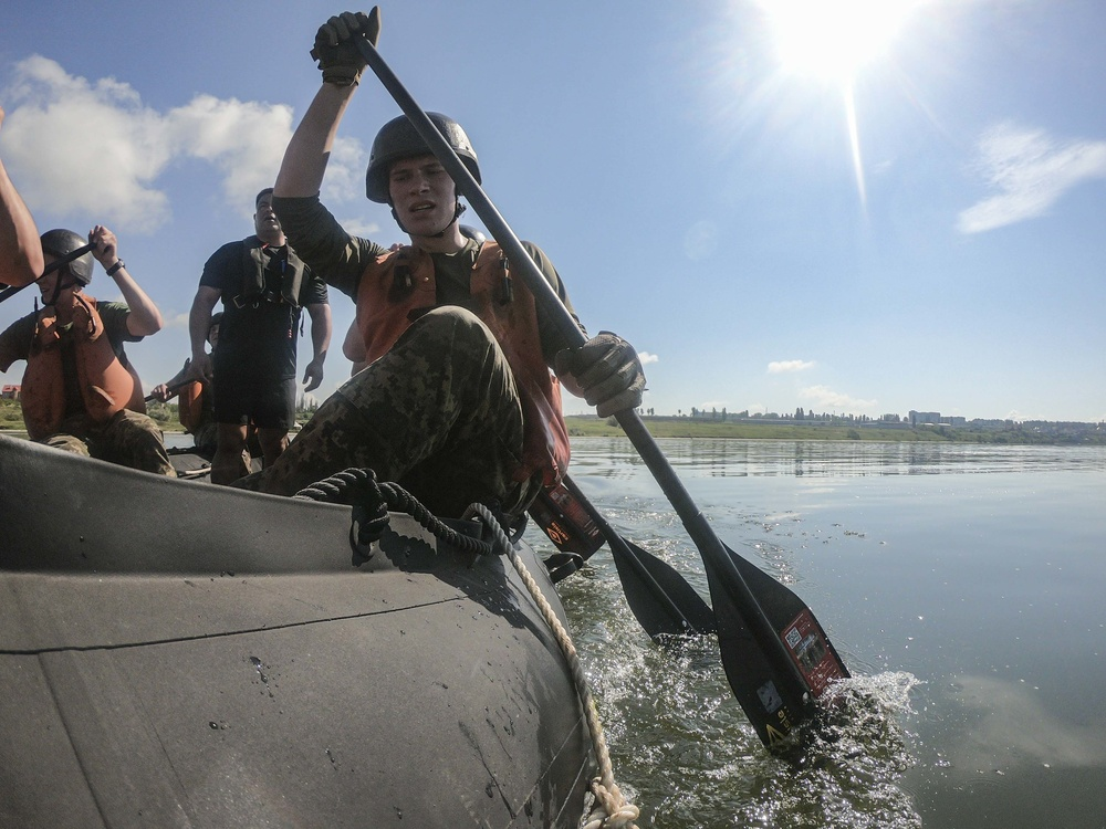U.S. Marines conduct CRRC practical application with Ukrainian Marines