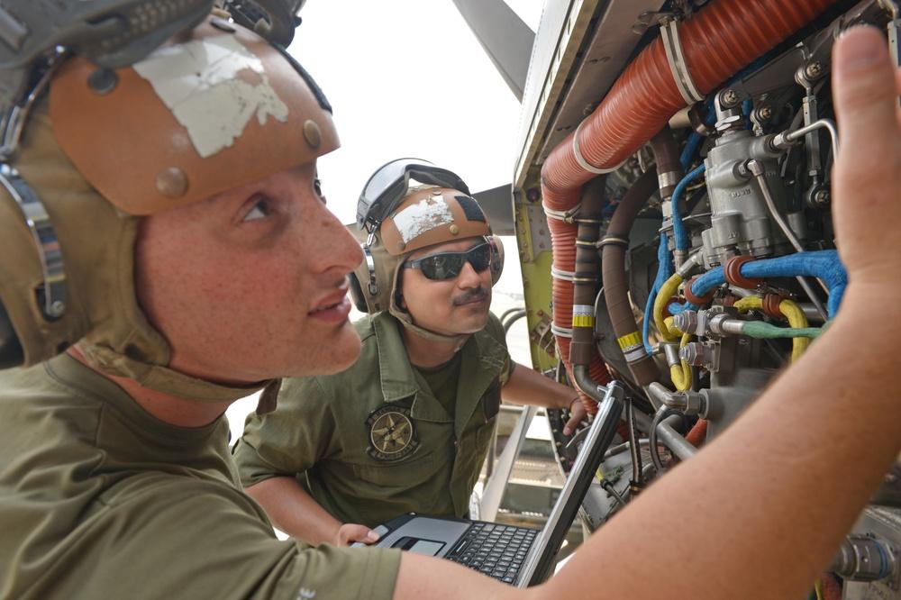 VMGR-234 Marines Maintain Super Hercules