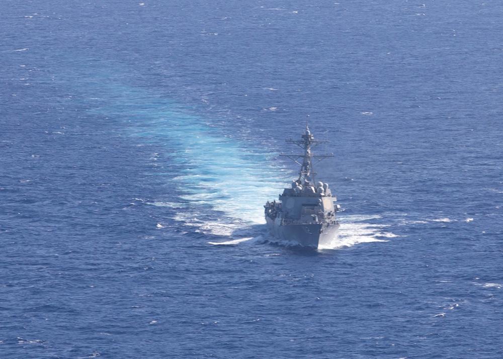 USS Michael Murphy Sails with USCGC Midgett