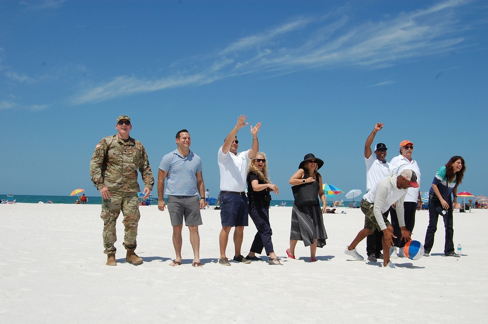 Sarasota celebrates completion of Corps re-nourishment project at Lido Beach