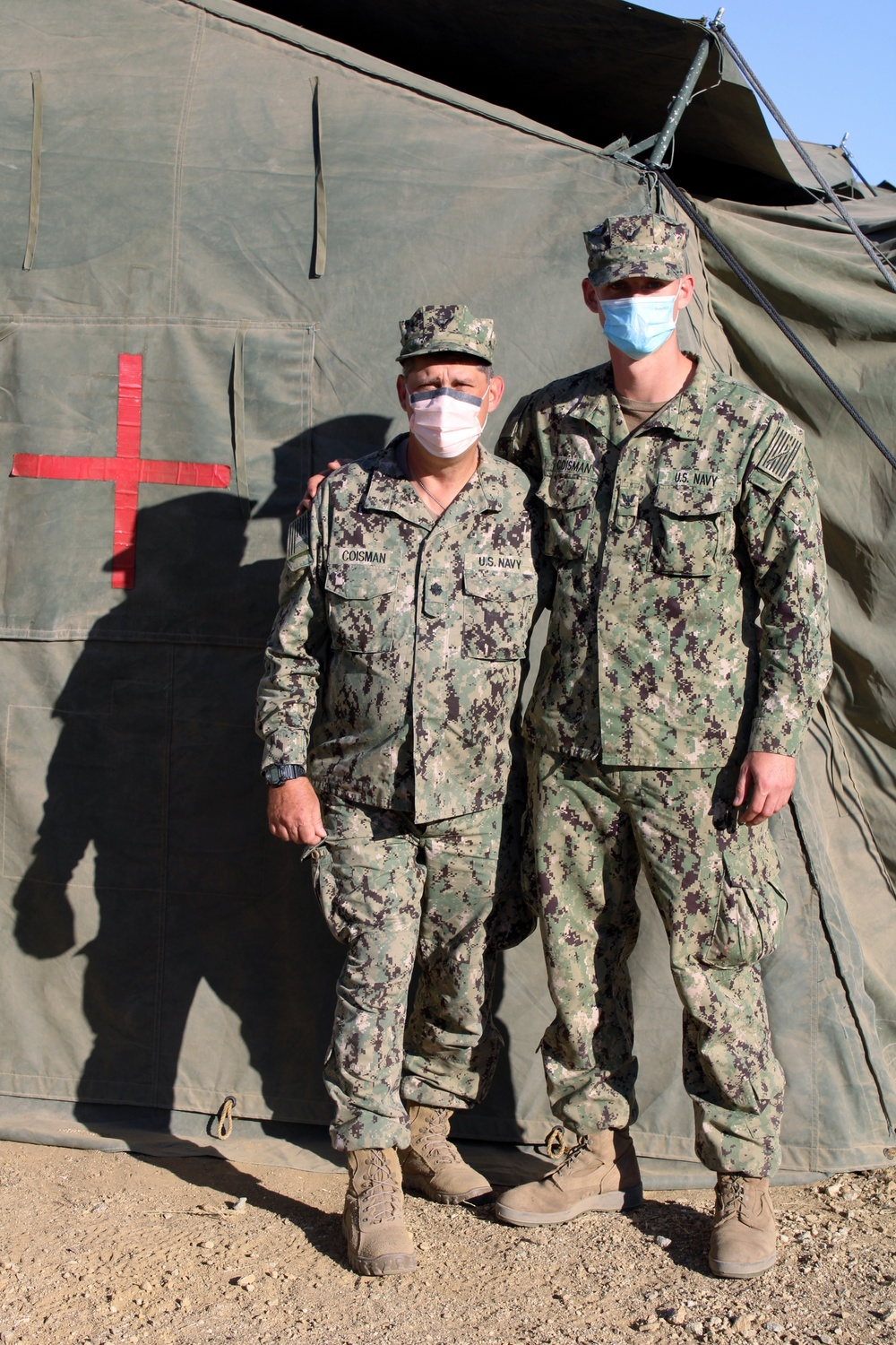 Father and son serve at Global Medic