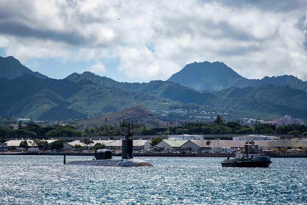 USS North Carolina Departs Joint Base Pearl Harbor-Hickam