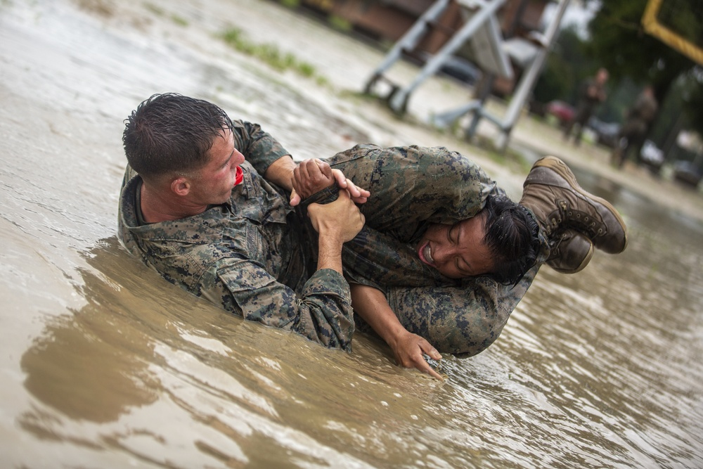 Marines have a good old-fashioned mud fight