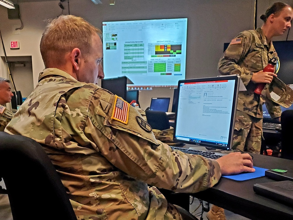 HHC, 449th CAB trains on the Command Post Computing Environment