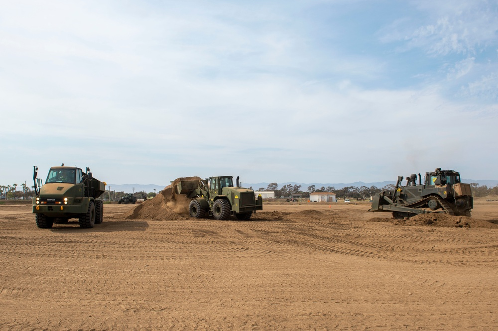 NMCB-3 Seabees Train With Heavy Equipment During CPX-4
