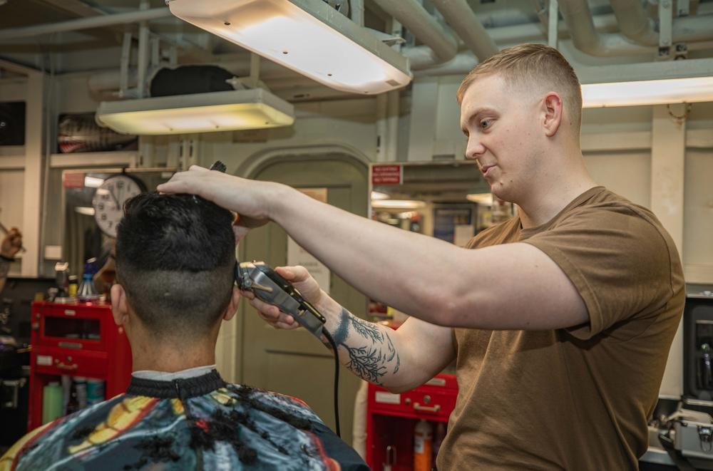 USS Ronald Reagan (CVN 76) Barbershop