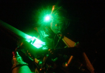 HSC-25 Sailors Conduct Night Ops Aboard USS America (LHA 6)