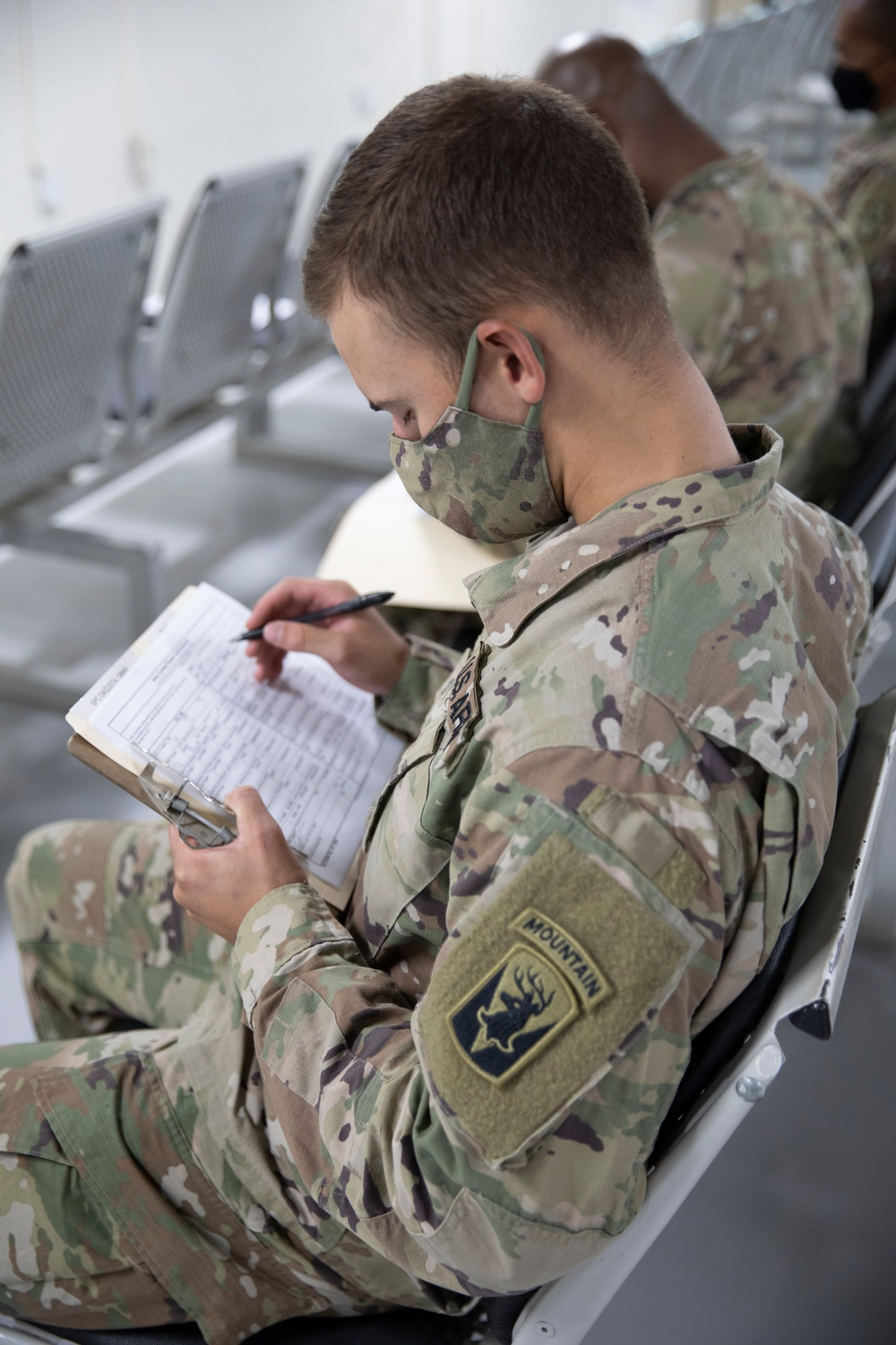 Competitors in-process during U.S. Army Central 2021 Best Warrior Competition