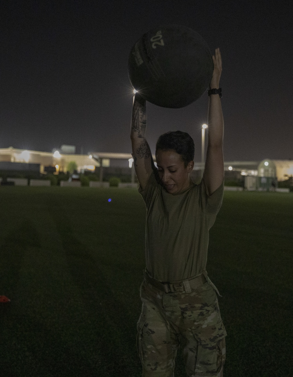 U.S. Army Central 2021 Best Warrior Competition Combat Focus Physical Readiness Training