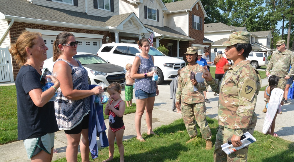 Residents react favorably to Fort Lee's first Walking Town Hall