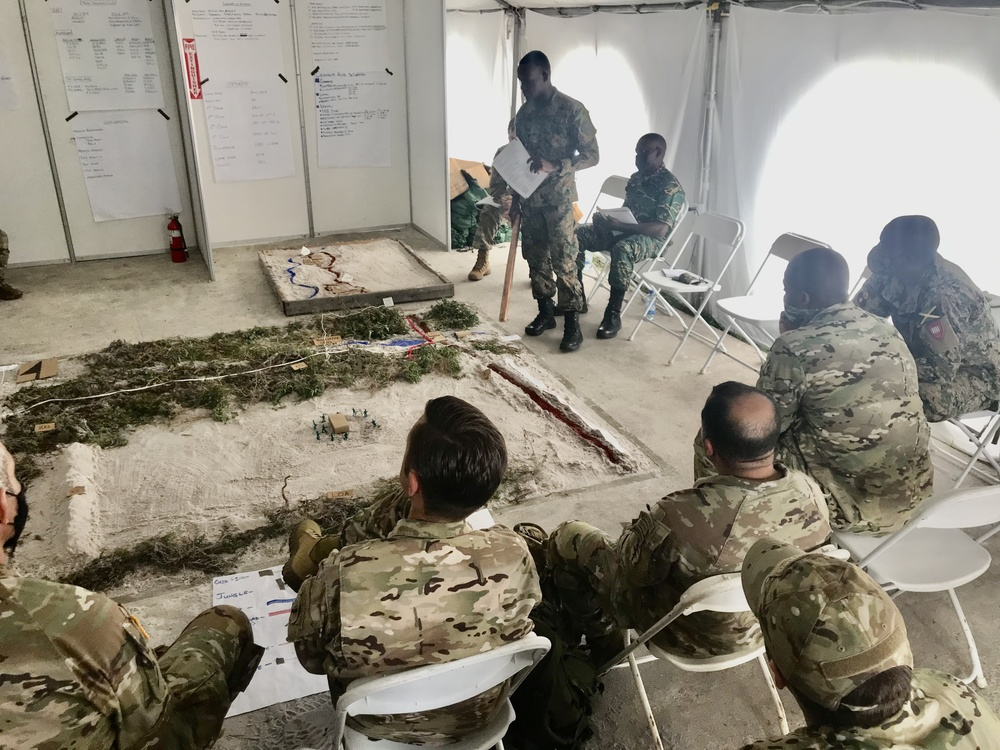 Mission brief during Tradewinds 2021