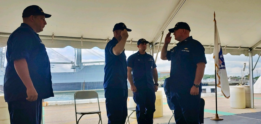 USCGC Stone (WMSL 758) holds change of command ceremony