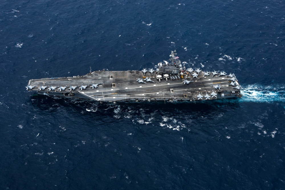 Ronald Reagan Carrier Strike Group Joint Operations with Indian Navy and Air Force