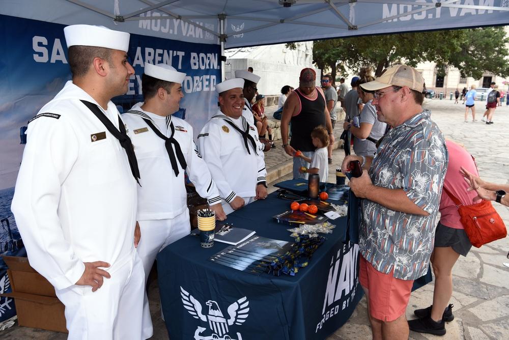 NTAG San Antonio participates in Navy Day at the Alamo during Fiesta