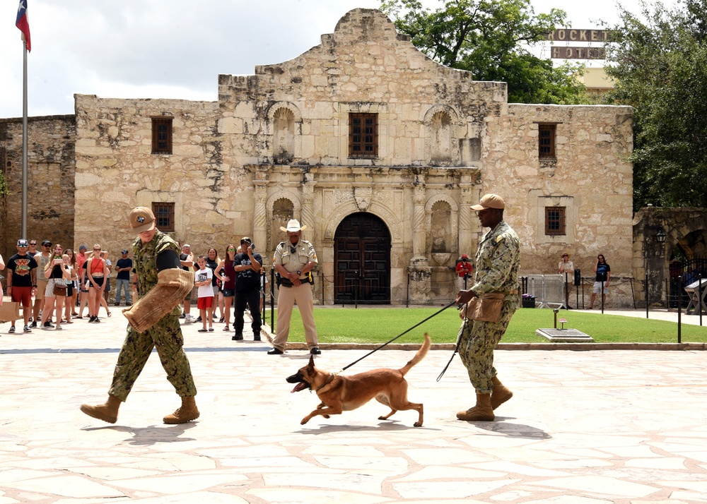NTTC Lackland conducts demonstrations during Navy Day at the Alamo