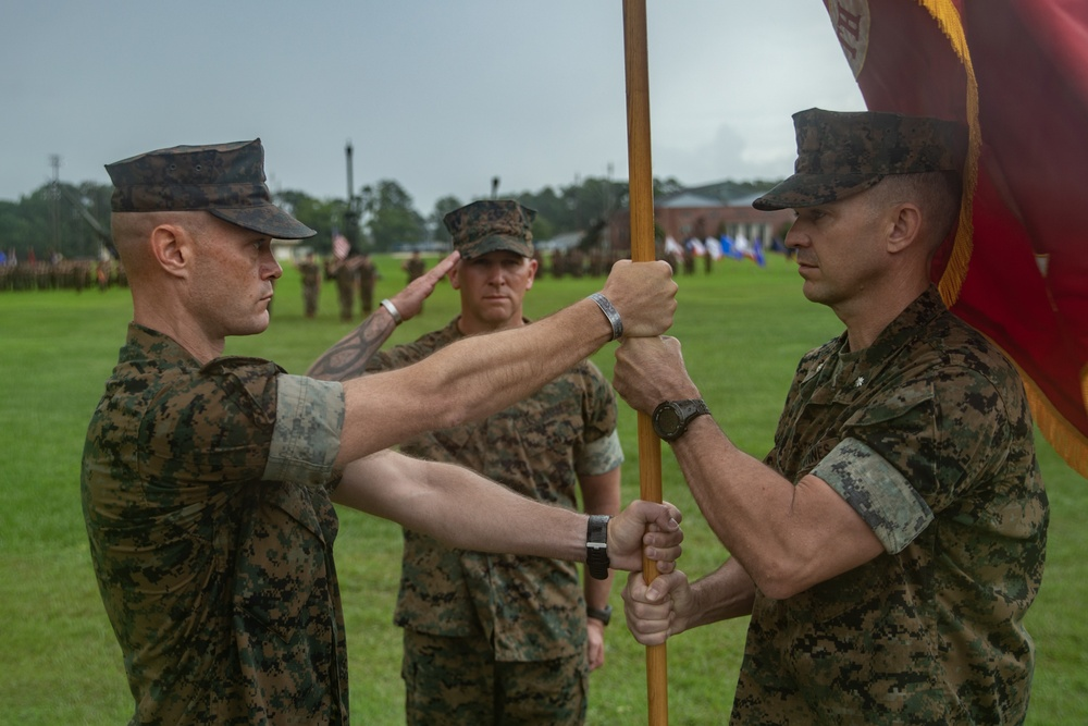 10th Marines Change of Command