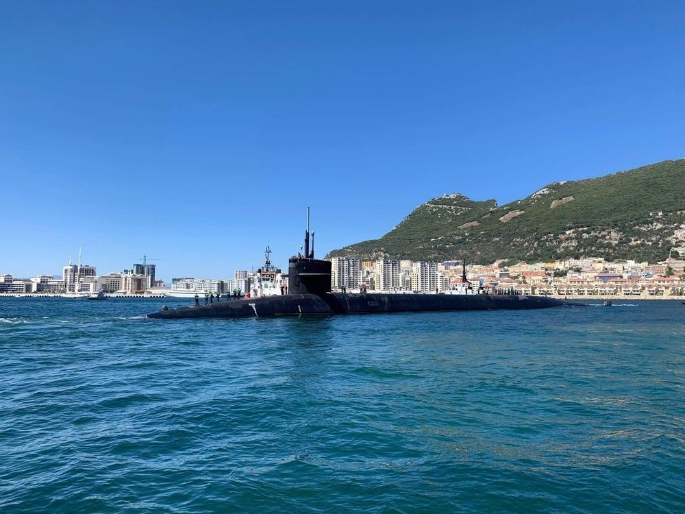 The U.S. Navy submarine USS Alaska (SSBN 732) arrived at the Port of Gibraltar
