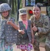 Deployed guardsmen provide static display at children's event in Poland
