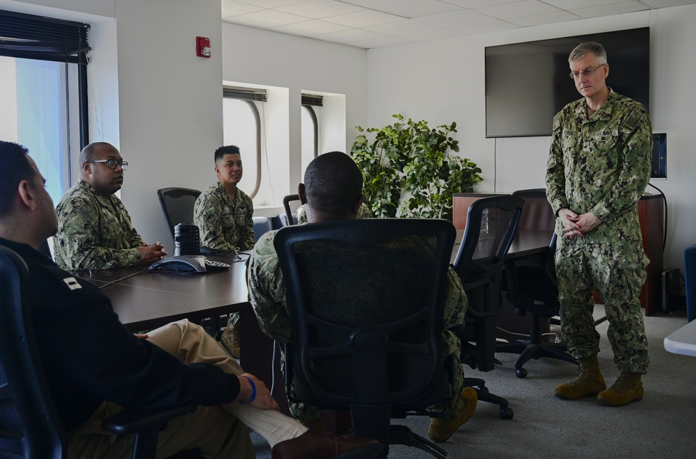 Rear Adm. Tim Weber, Naval Medical Forces Pacific visit to NTAG New England