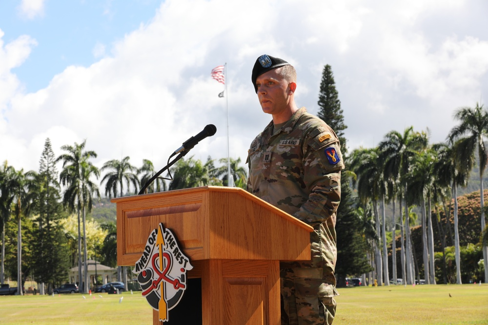 Celebrating Centennial and Change of Command for the 196th Infantry Brigade.