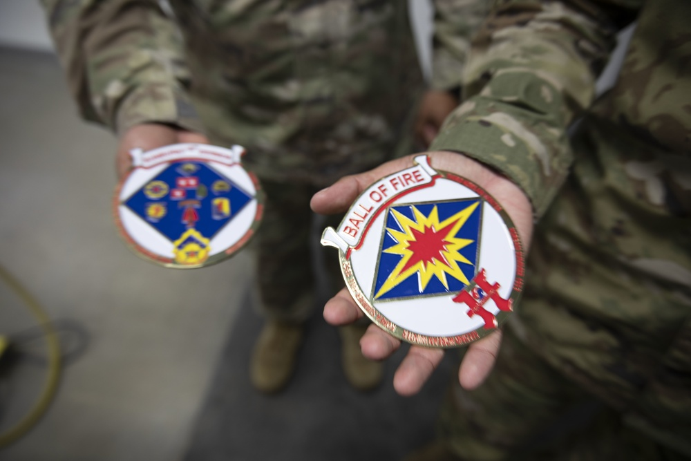 Sagami Depot Logistics Task Force Commended for Support by the 40th Infantry Division Commander