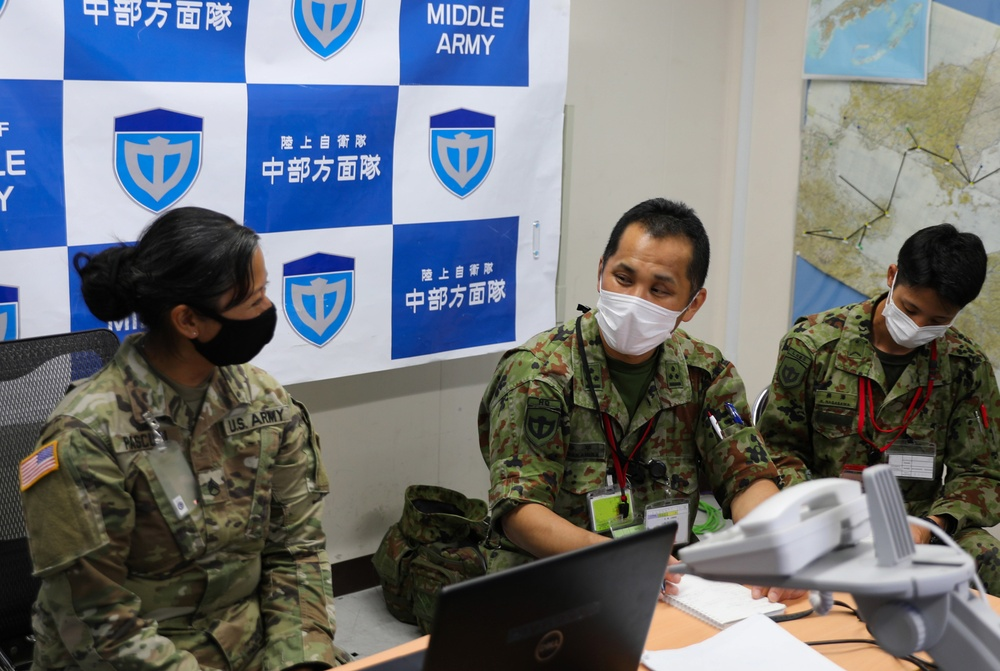 Public Affairs Academics Between 40th Infantry Division and JGSDF Middle Army