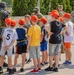 Deployed US Soldiers support community during a local youth event in Poland