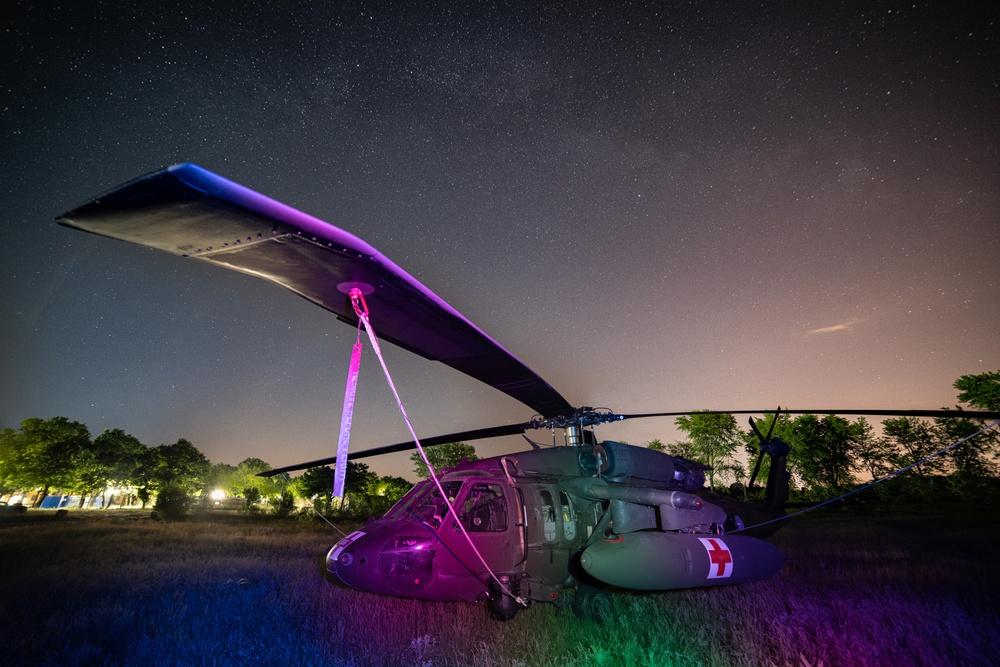12th CAB Medevac light painted in Hungary