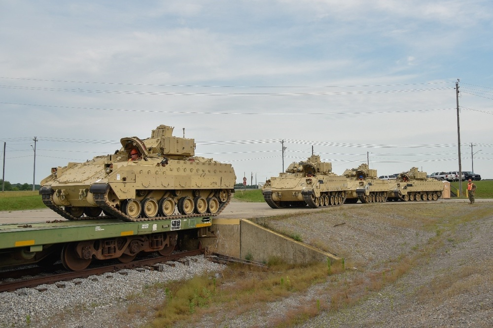 TN National Guard conducts railhead operations at Fort Campbell
