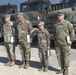428th Transportation Company Soldiers receive Army Achievement Medal.