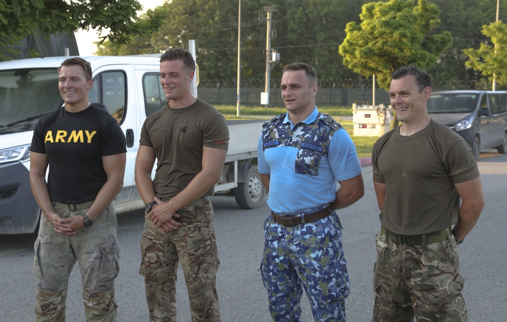 BATTLE PT:  The U.S. Army, Royal Air Force, Romanian Air Force join together for a physical fitness competition