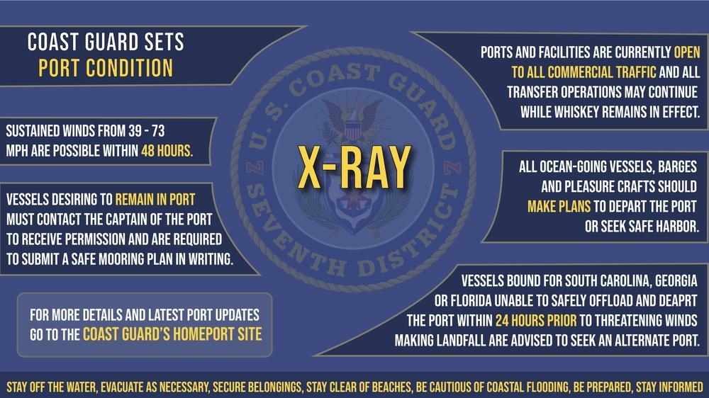 Coast Guard sets Port Condition X-Ray
