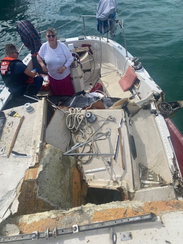 Coast Guard, agencies assist injured boater after boat collisionoff Key Largo