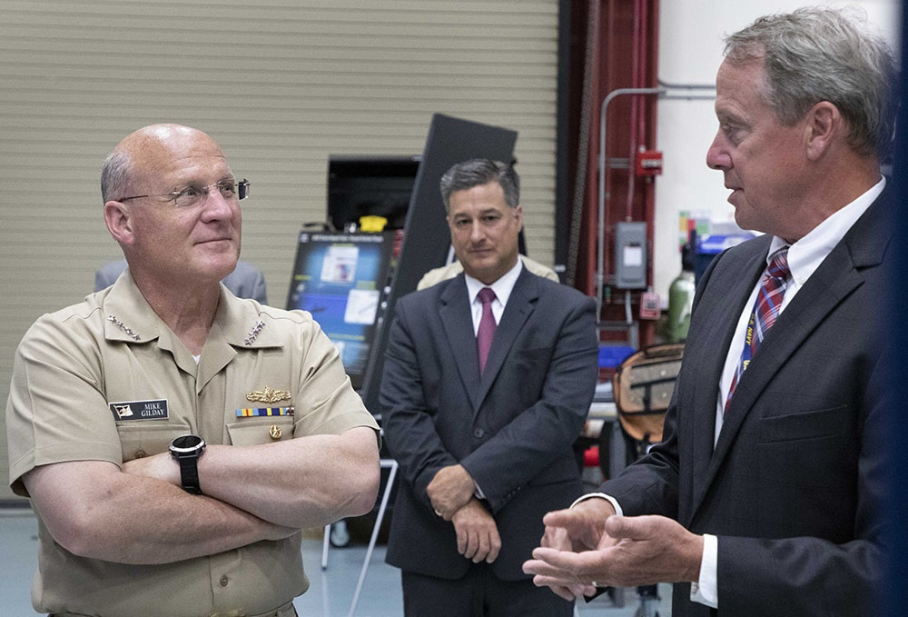 Chief of Naval Operations tours undersea vehicle lab during visit to NUWC Division Newport