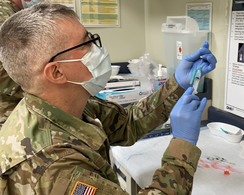 Vaccination efforts on Fort Campbell, 101st rank high among DoD