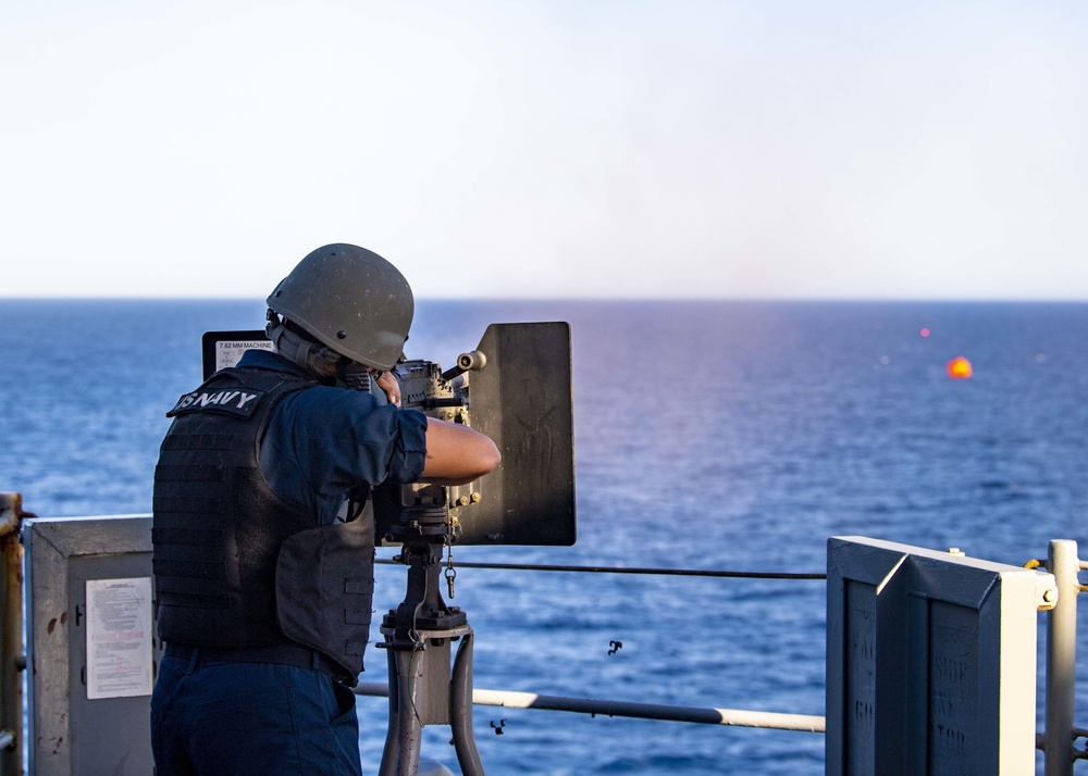 Carter Hall Conducts Live-Fire Exercise