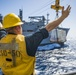 Carter Hall Conducts RAS with USNS William McLean
