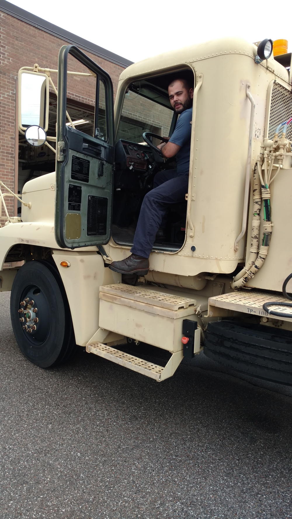Moving Tanker Truck