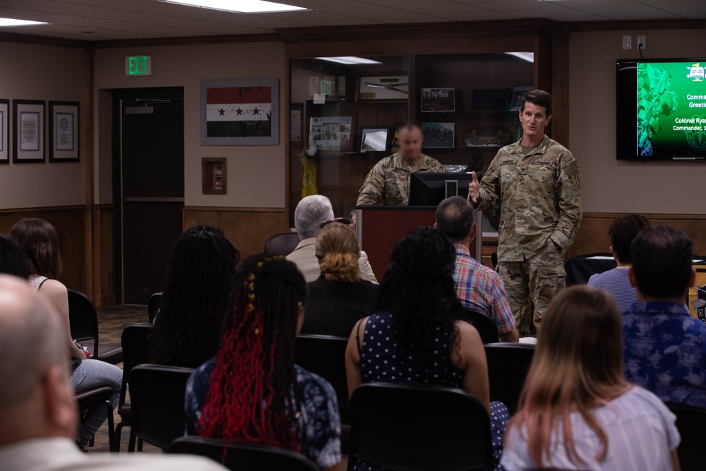 Children of 1st SFG (A) Soldiers receive scholarship for academic excellence