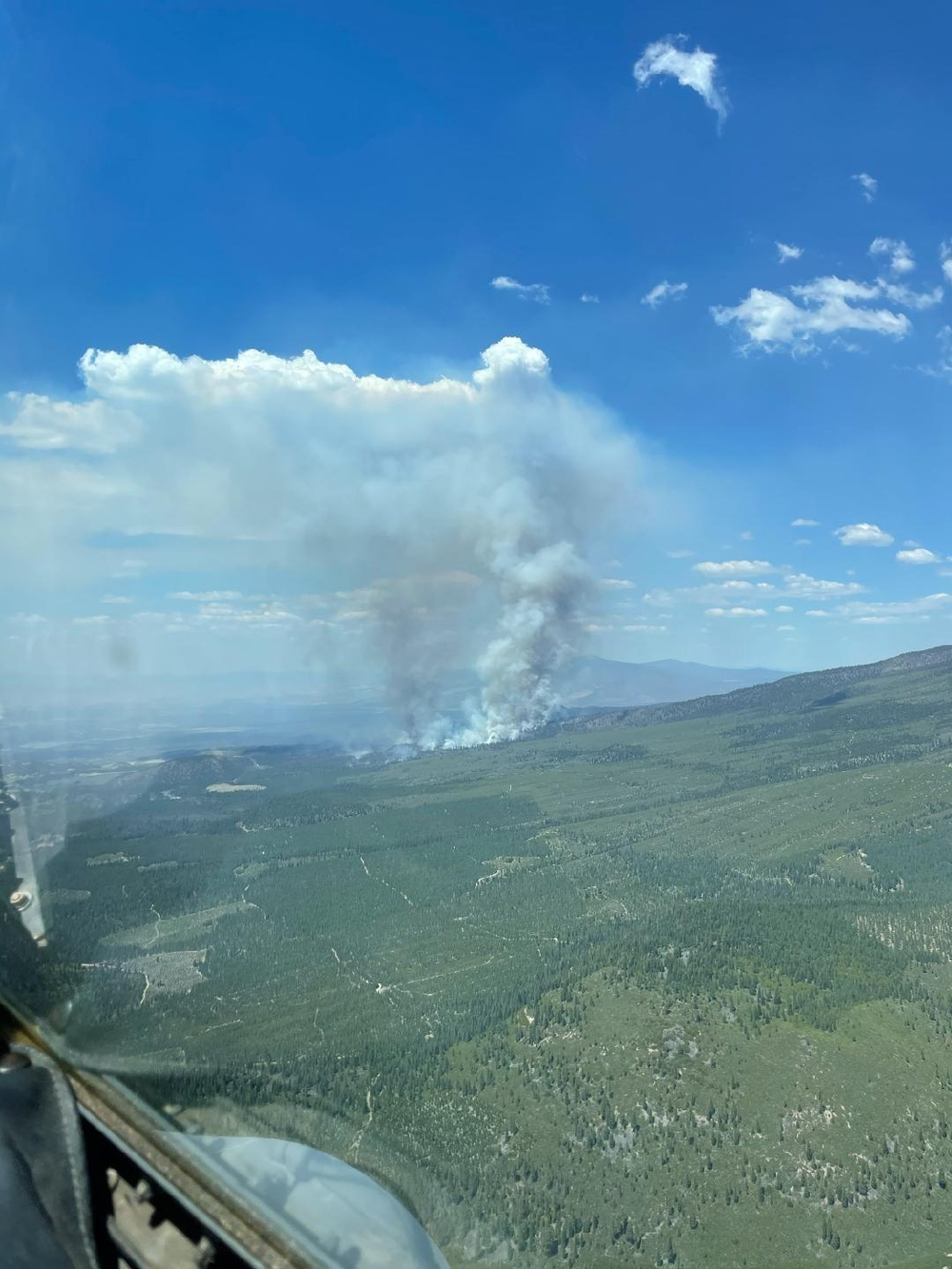 High Rollers' first fire retardant drop of the 2021 firefighting season