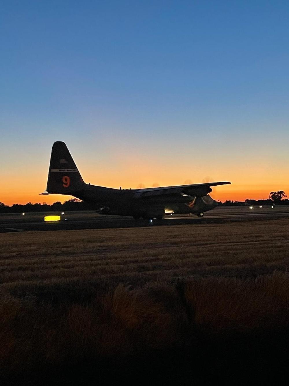 MAFFS 9 lands at McClellan Air Tanker Reload Base in Sacramento, California