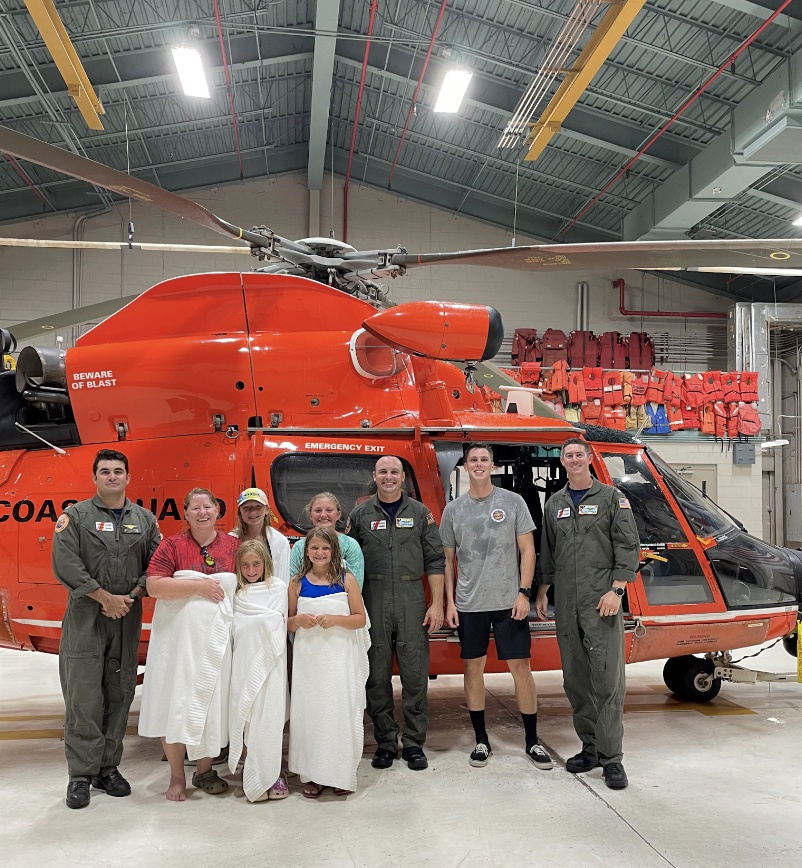 Coast Guard rescues 5 people stranded on Otter Island