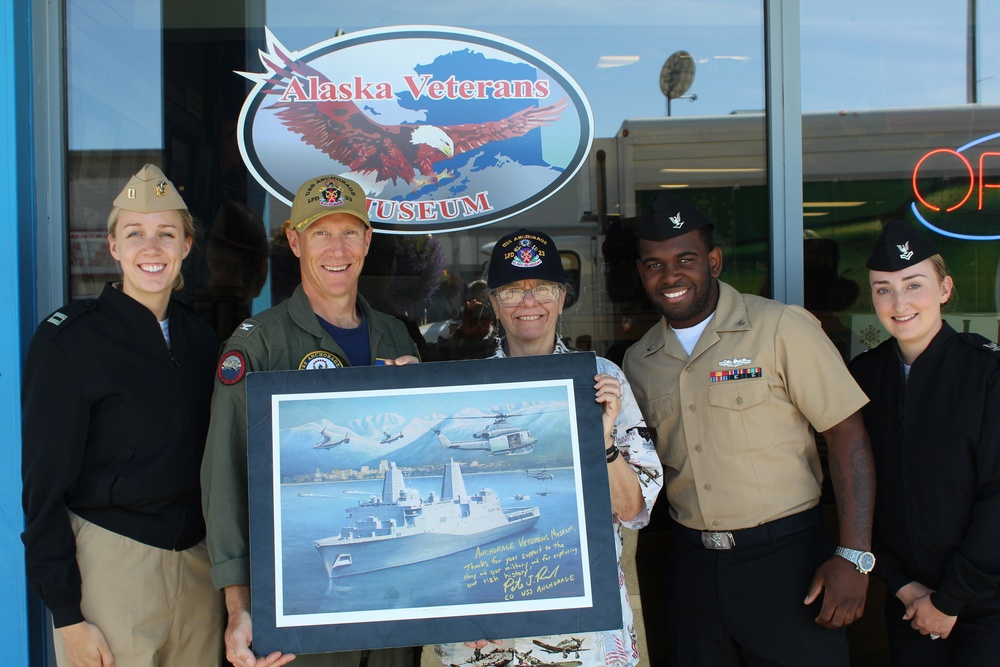 USS Anchorage Visits the Alaska Veterans Museum