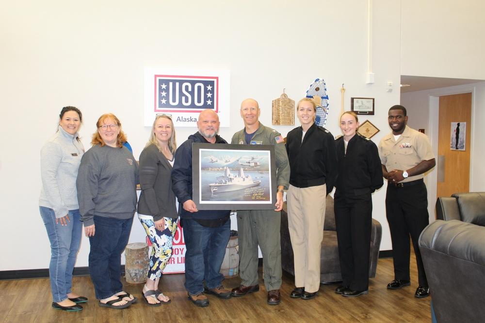 USS Anchorage Visits USO Alaska