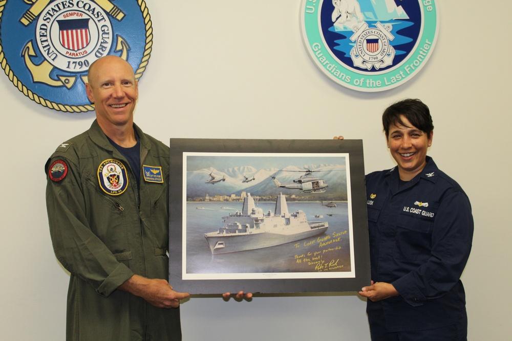 USS Anchorage Visits U.S. Coast Guard Sector Anchorage