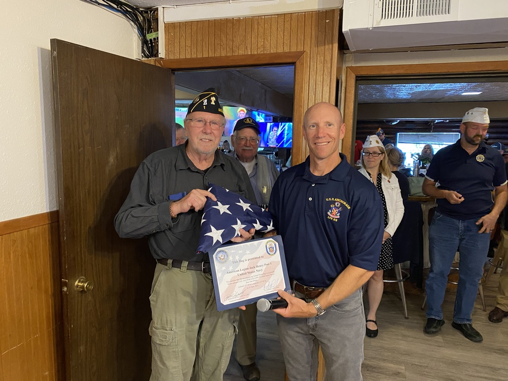 USS Anchorage Visits Alaska American Legion Post 1