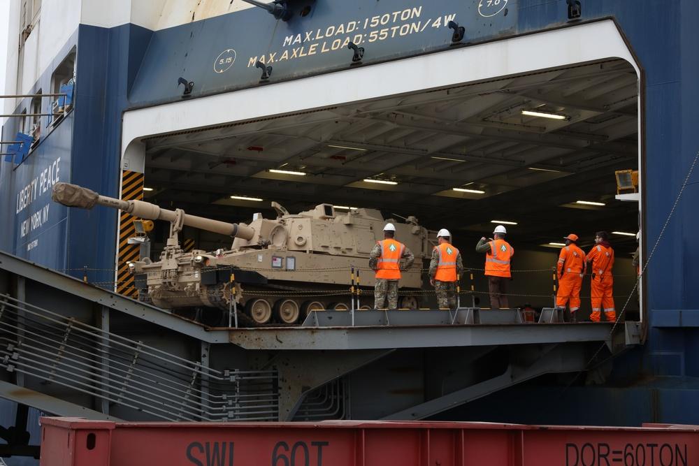 Atlantic Resolve Port Operations in Gdansk, Poland