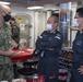 Cmdr. J.J. Murawski (left), commanding officer of USS Rafael Peralta (DDG 115), meets with representatives from the Japan Maritime Self Defense Force