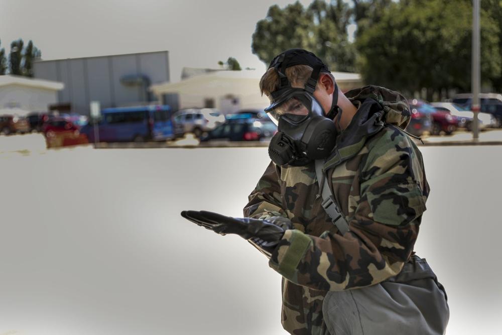 3-1 AHB conducts CBRN decontamination training exercise in Romania