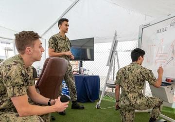 USNA interns design a ship-based robotics obstacle course